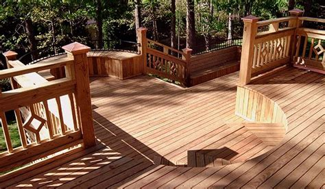 building a deck on a sloped backyard bi level deck plans deck and http www diydeckplans