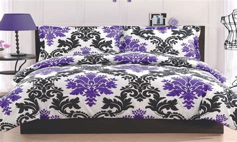 black white and purple bedroom wallpaper decor ideas purple black and white background