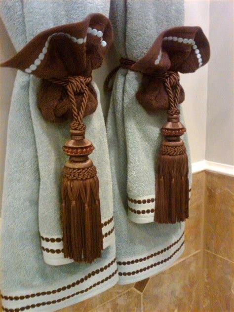 bathroom towel hanging ideas 96 best decorative towels images on pinterest fold