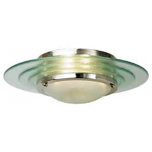 low ceiling light flush fitting deco low ceiling light circular glass
