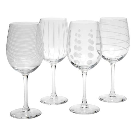 mikasa barware mikasa cheers white wine glasses set of 4