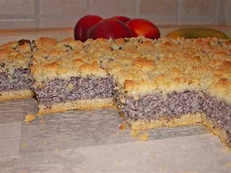 kuchen mit mohnback mohn streuselkuchen rezept mit bild pinktroublebee