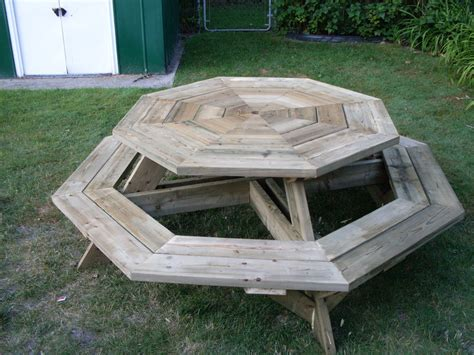 octagon picnic table by wecoyote lumberjocks