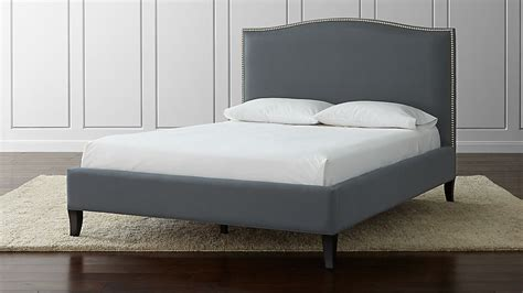 colette queen upholstered bed  reviews crate