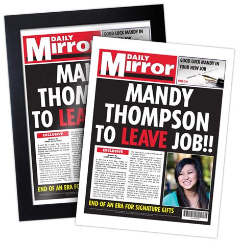 Magazine Presents News Of The Day by I Just Itleaving Work Personalised Newspaper