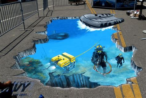 Alice In Wonderland Wall Murals 3d street art we talk chalk 3d street painting