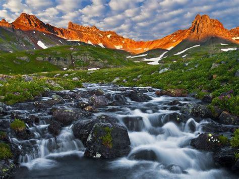 ice lake basin san juan mountains colorado usa spring