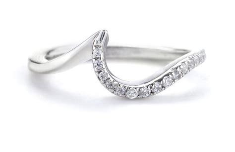 platinum and shadow band wedding ring 2 onewed