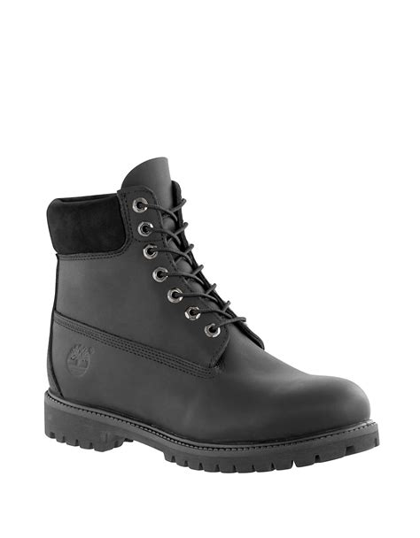 timberland leather work boots in black for lyst