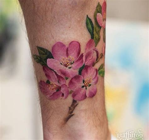cherry blossom tattoo קעקוע pinterest cherry