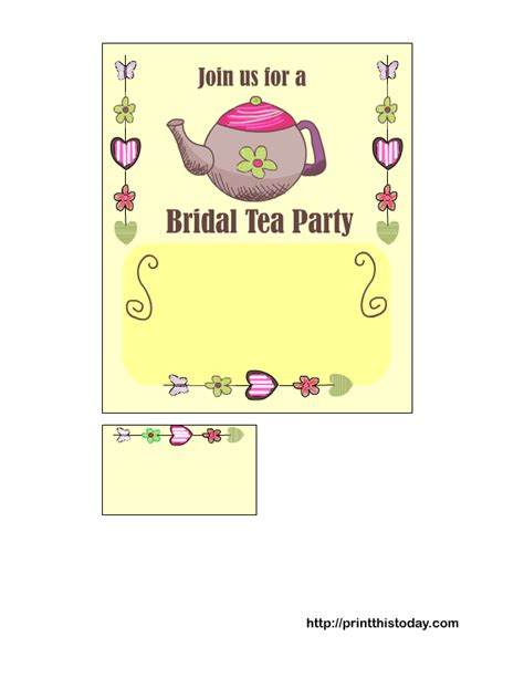 free printable bridal shower tea party invitations free printable bridal shower tea party invitations
