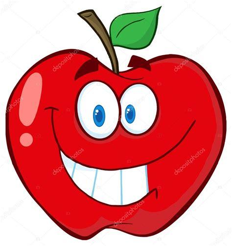 imagenes animadas manzana sonriente personaje de dibujos animados de manzana