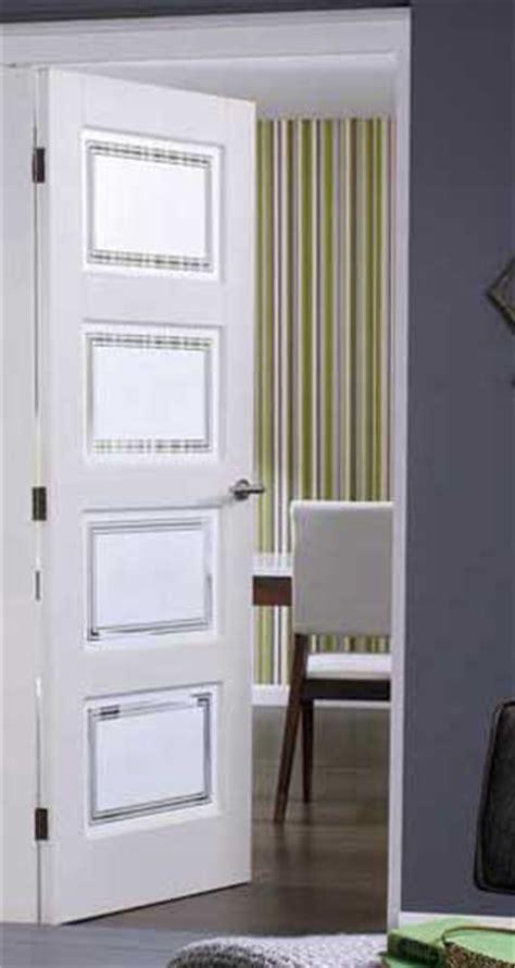 Solid White Interior Doors Contemporary 4 Glazed White Doors