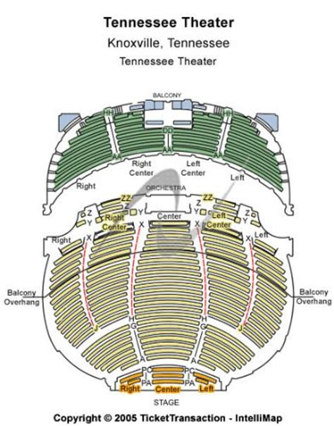 tennessee theatre   tennessee theatre seating