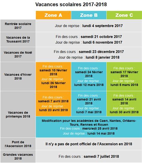 Education Nationale Calendrier Vacances Calendrier Scolaire 2017 2018 Pour Planifier Ses Colos