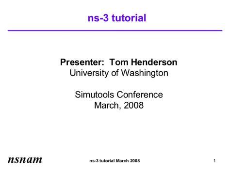 ns3 tutorial download tutorial ns 3 tutorial slides