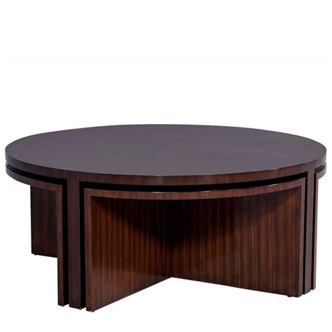 modern cocktail tables duke modern mahogany cocktail table with nesting tables at
