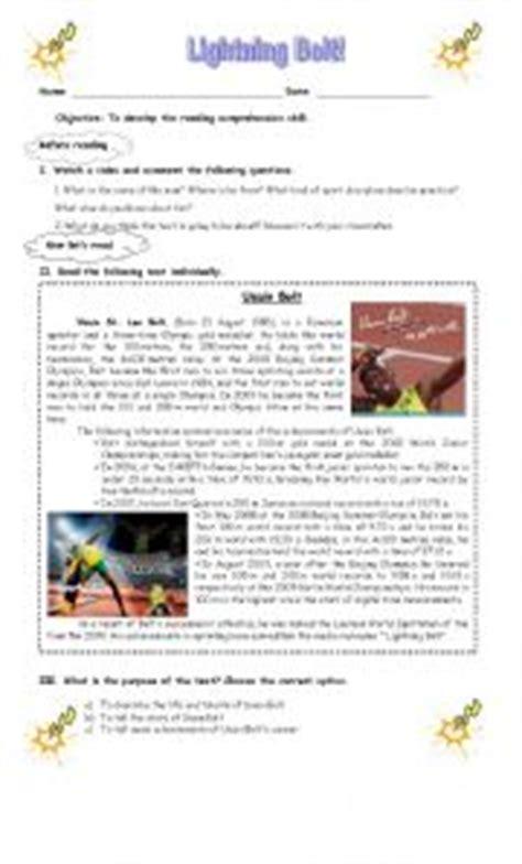 usain bolt biography in english intermediate esl worksheets usain bolt biography