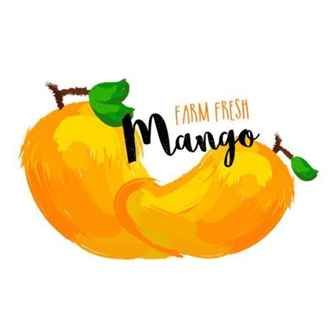 Delicious mango background in abstract style Vector