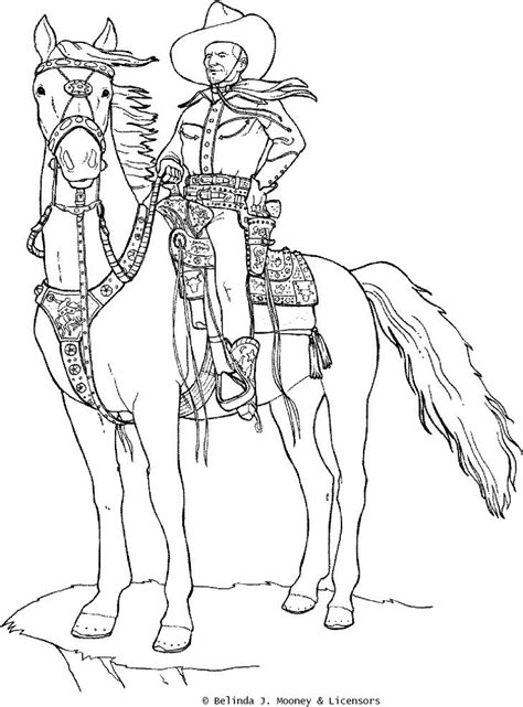 cowboy horse coloring page coloring pages cowboy4 jpg 729 215 987 color the west