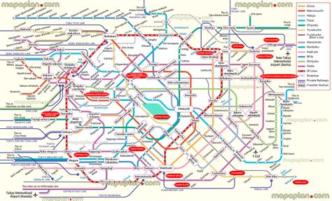 tokyo map tourist attractions tokyo map attractions metro subway stations railway