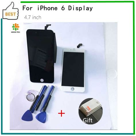Iphone 6 6g Lcd Touchscreen 2 1 picese 100 test black white for iphone 6 lcd touch