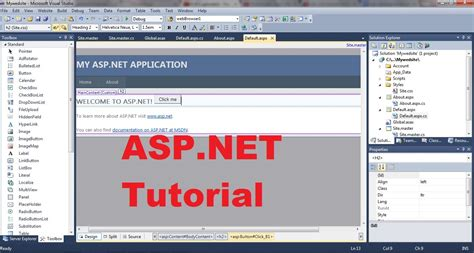asp net tutorial 8 create a login website creating master asp net tutorial 1 introduction and creating your first