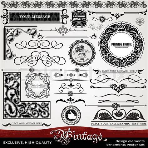 Etiketten Design Vorlage Luxus Vintage Stil Exklusive Spitzenqualit 228 T Klassische