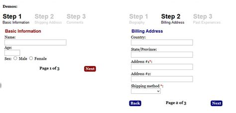 bootstrap layout step by step bootstrap step progress phpsourcecode net