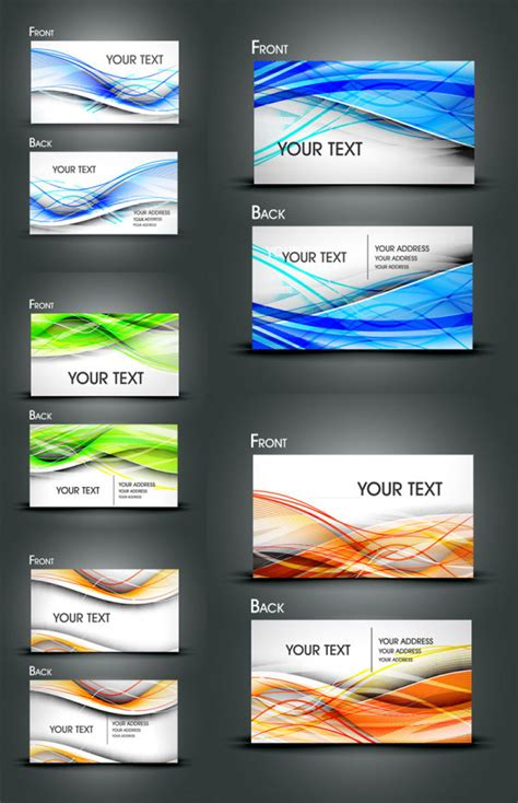 gorgeous dynamic flow  card vector material