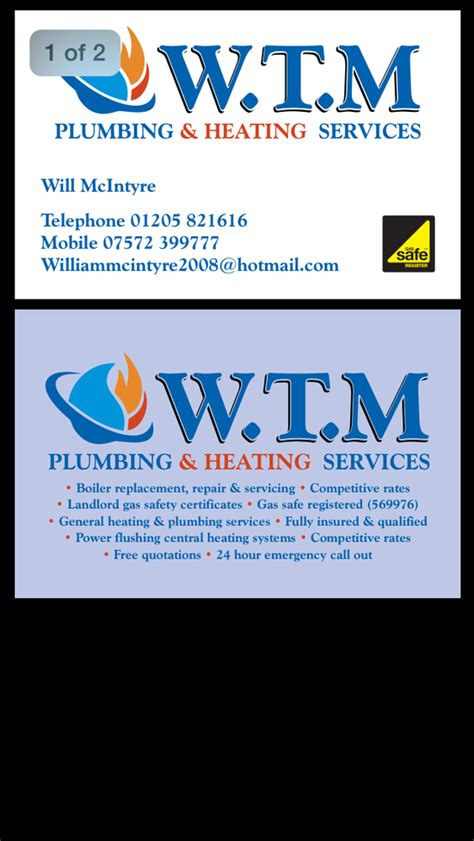 T M Plumbing by W T M Plumbing Heating Services 100 Feedback Gas