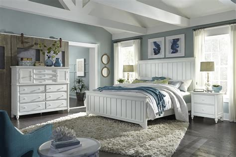 aspenhome retreat pcs farmhouse panel bedroom set  chalk