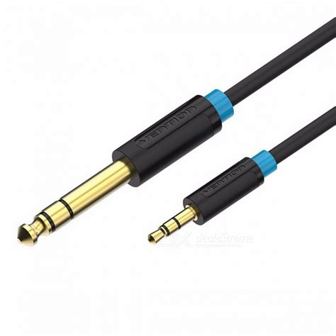 Kabel Audio Aux 35mm To 35mm Gold Plated vention 3 5mm to 6 35mm adapter aux cable for mixer lifier gold plated 3 5 to 6 5