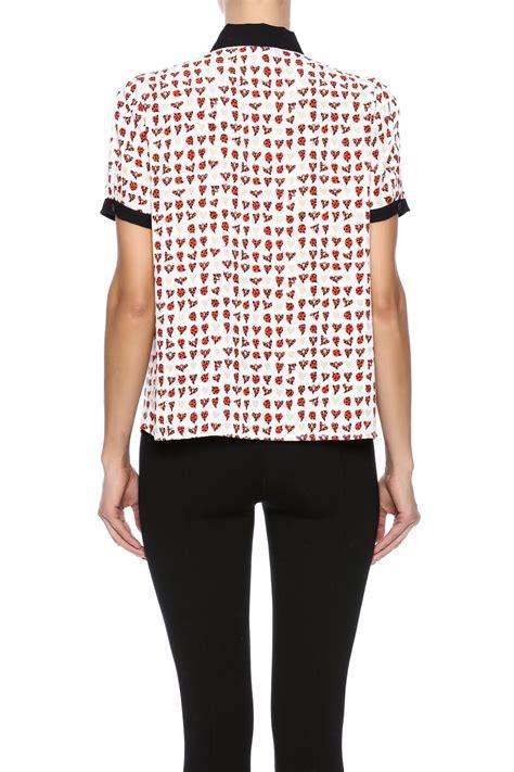 Ladybugs Blouse Size S ladybug print blouse from naples by bio new york shoptiques