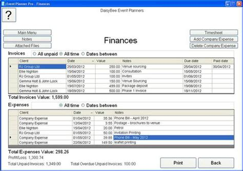 what does the event planner software do