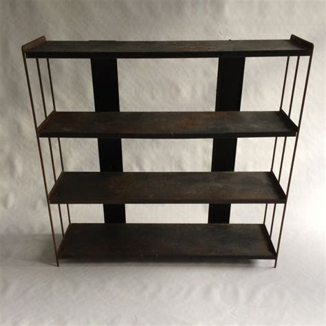 industrial vintage shelving unit industrial bookcase