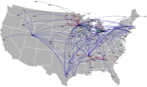 United Airlines Hubs by Image Gallery Delta Hubs