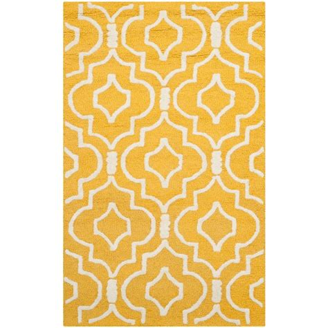 3 Foot Rug by Safavieh Cambridge Gold Ivory 2 Ft X 3 Ft Area Rug