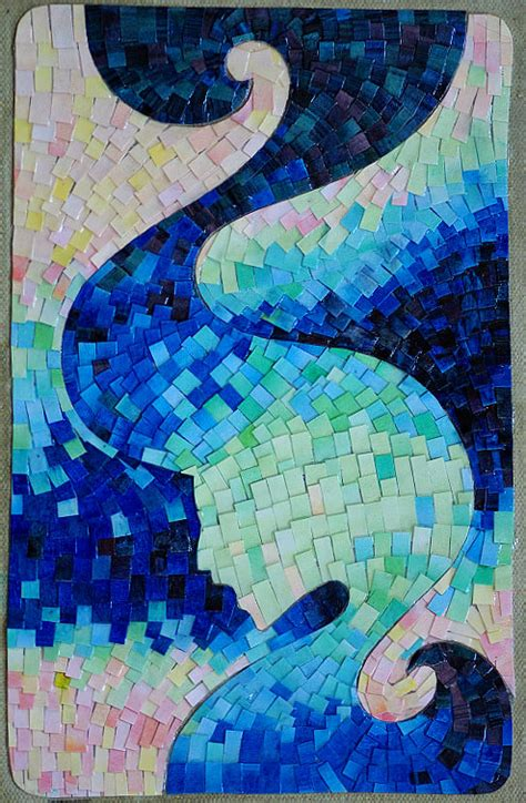 How To Make Paper Mosaic Artwork - cafe lectures mosaics hermione s knapsack