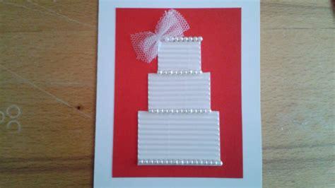 make a wedding card how to make a beautiful wedding greeting card diy crafts