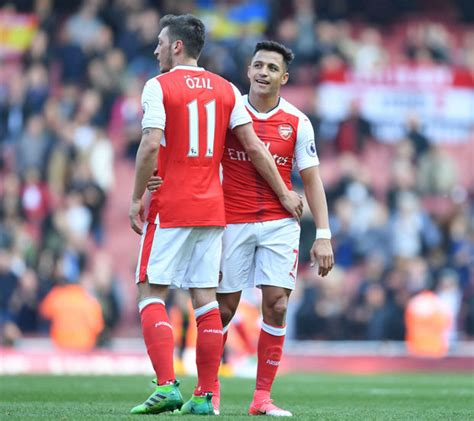 alexis sanchez and mesut ozil arsenal news contract rebels mesut ozil and alexis