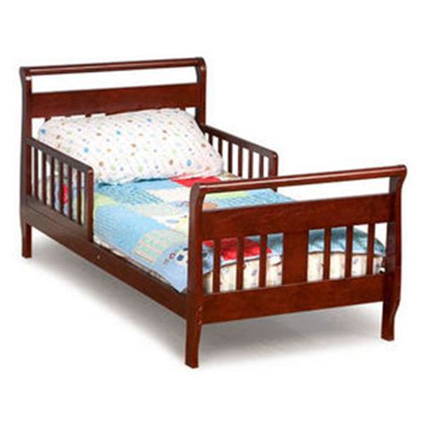 Toddler Sleigh Bed Toddler Sleigh Bed Frame Childrens Bedroom Furniture Boys Cherry Wood Ebay