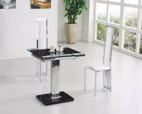 Glass Extending Dining Table And Chairs Gami Extending Glass Dining Table Dining Table And Chairs Dining Tables