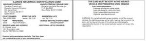 Fake Car Insurance Card Template Fillable Auto Insurance Identification Card Fake Auto