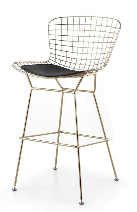 bertoia wire bar stool bertoia wire counter stool in gold finish bar counter