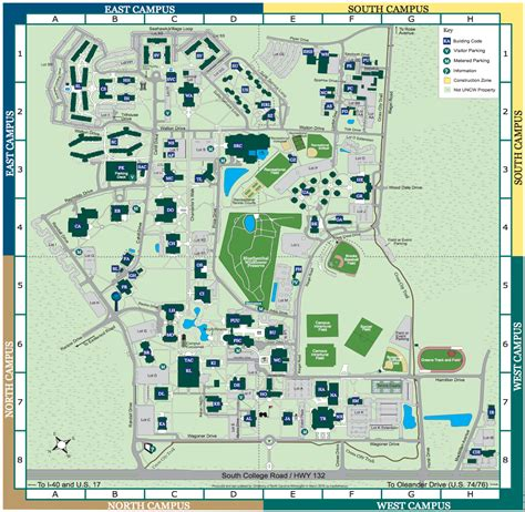 uncw map uncw map map3