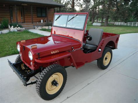 1947 Willys Jeep For Sale 1947 Jeep Willys Cj 2a 2 2l For Sale Photos Technical