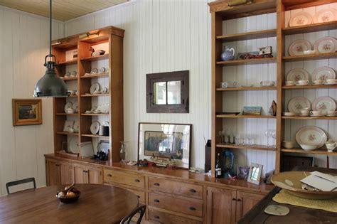 white oak built ins farmhouse dining room  york
