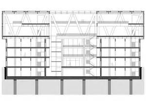 Steel Construction Section by Cantilevered Structures Construction Structure