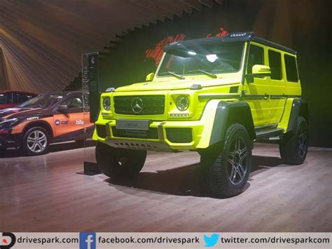 mercedes g wagon green mercedes g class squared suv debuts in india drivespark